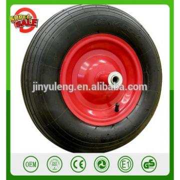 """16'' 4.80/4.00-8"""" Pneumatic Air Filled Tire Replacement Wheel for Wheelbarrow Pneumatic Wheelbarrow wheel Ribbed Tread"""