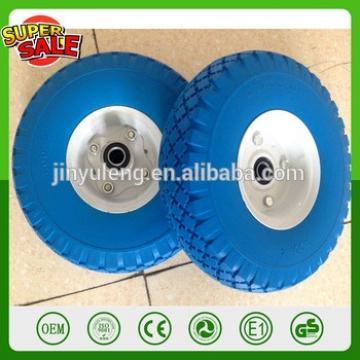 10 inch 4.10/3.50 3.00-4 PU foam wheel steel plastic rim solid wheel hand trolley tool cart wagon barrow truck wheel