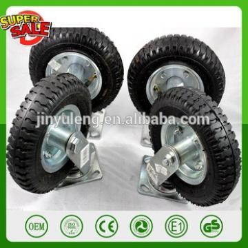 8 inch 2.50-4 SWIVEL FIXED WHEEL RUBBER TIRE CASTER truckle Directional Medium duty universal wheel Handcart caster