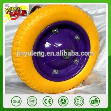 13 inch 13*3 PU solid wheel foam wheel for wheelbarrow solid wheel barrow wheel 3.00-8 tubeless solid wheel metal steal rim