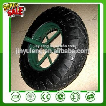 14 16 inch 3.50-8 4.00-8 wheelbarrow wheel with spoke steel rim WB6400 wheelbarrow wheel pneumacitc rubber wheel air wheel flag