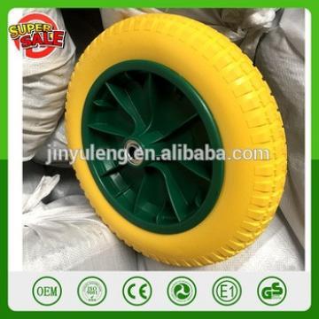 13inch 3.00-8 PU rubber foam wheel for wheelbarrow Trolley Wheel wheelbarrow solid wheel with plastic rim boltless tyre