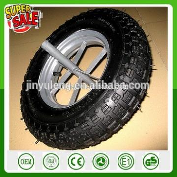 spoke style steel rim WB6400 wheelbarrow rubber wheel 16inch pneumaitc wheel 4.00-8 rubber wheels wheelbarrow wheel air wheel