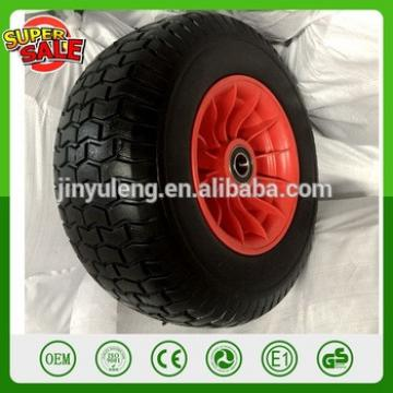 16inch 6.50-8 Puncture Proof PU wheel plastic rim pu foam wheel for wheelbarrow ATV pu foma solid lawn wheel