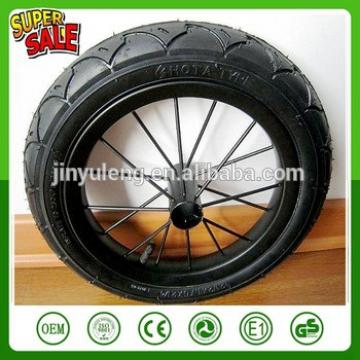 12 inch steel spoke bicycle wheels pneumatic rubber tire balance car wheel