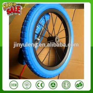 12/14 inches alloy Carbon steel PU foam bicycle wheel ,bike wheel ,Baby carrier wheel