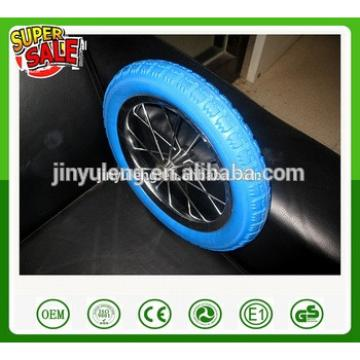 12/14 inches alloy Carbon steel PU foam bicycle wheel ,pneumatic bike wheel ,Baby carrier wheel
