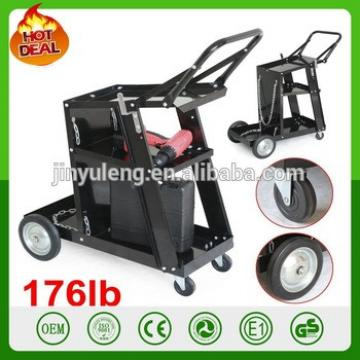 Welding tolley tool Cart with Tank Storage black metal Universal Welder Plasma Cutter Arc