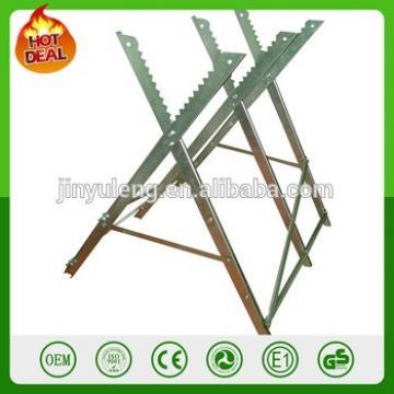 METAL steel Adjustable wood CHAINSAW Heavy Duty Sawhorse Log Saw Horse with Serrated Grip