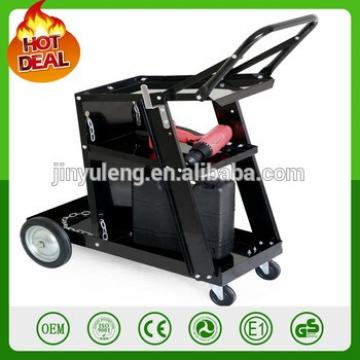 popular Plasma Cutter Arc Welding tolley black metal Universal Welder tool Cart with Tank Storage