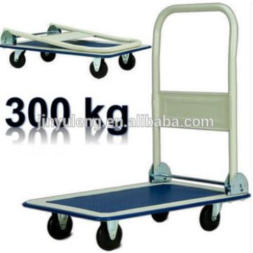 real load 300kg heavy foldable platform hand truck hand trolley