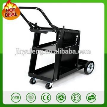 black metal Universal Welder Plasma Cutter Arc Welding tolley tool Cart with Tank Storage