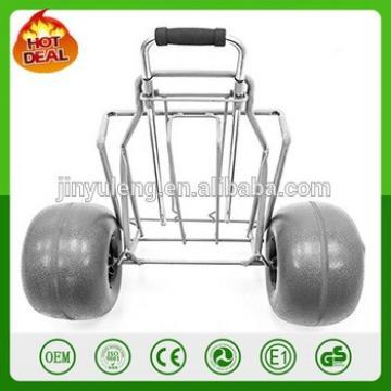 Mobility Folding Utility Cart BEACH TROLLEY tool cart Lightweight Foldable Large Balloon wheel Sand Wheels Transport Picnic Park