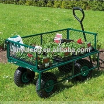 Metal mesh garden tool cart