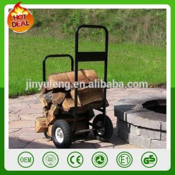 250LBS Patio Lawn & Garden Patio Firewood Log Cart Log Cart Haul It Wood Log Caddy with Cover Mover hand truck trolley