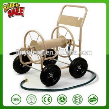 300FT 4 wheel metal garden hose reel cart Water Hose Reel Cart Outdoor Garden Heavy Duty Yard Water Planting New