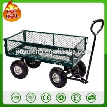 heavy duty Steel wagon trailers garden mesh tool cart garden wagon TC1859