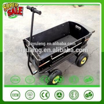 Exclusive custom four wheels tool cart Wooden pneumaitc wheel baby kids children wagon cart Outdoors, the beach park