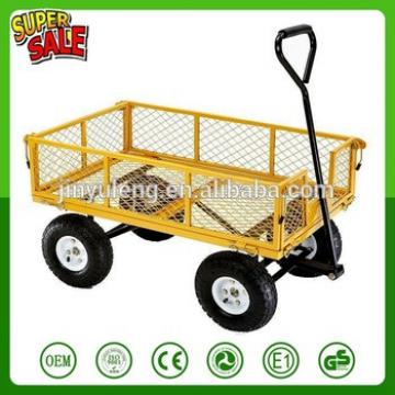 yellow Steel wagon trailers garden mesh tool cart garden wagon cart TC1859