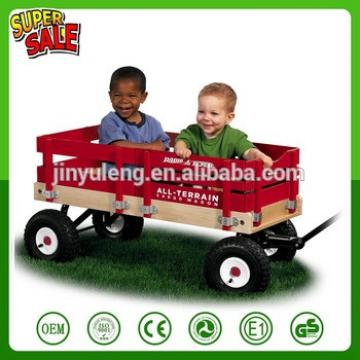 Four wheels baby Children kids Wooden folding wagon cart garden tool cart Outdoors, the beach park