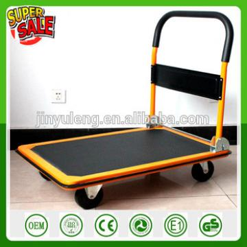 foldable heacy duty capacity portable platform hand trolley with wheel hand truck lorry trailer