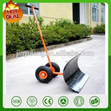 save labour effort Push snow shovel with wheel snow blade plough shovel