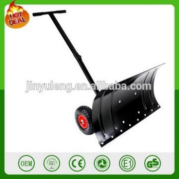 Adjustable Handle push snow shovel with wheel tool cart