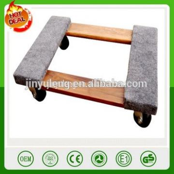 decorative wooden moving dolly/ trolley , moving tool cart for Electrical equipment, Furniture