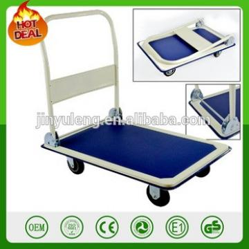 Platform Truck Hand Trolley 300kg Capacity Cart Stack Warehouse Flat Bed