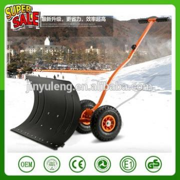 Retractable manual handy snow push shovel with wheel tool cart
