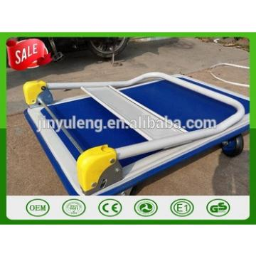 wholesale High quality folding carts flat wagon vehicle platform hand truck troley