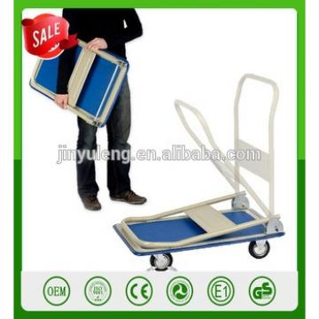 High quality portable 300 kg 150kg Four-wheeled Platform Trolley Tools Usage Hand Truck foldable