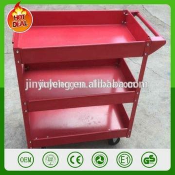 three layers metal platform service cart for fast food restaurant, hotel room, restaurant, repair, 4s,train