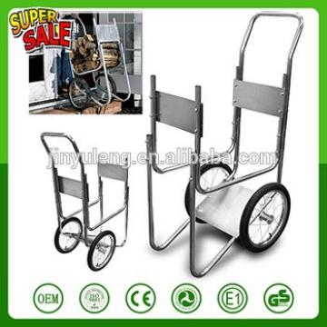16 inche big wheel Saving metal large capacity firewood cart hand trolley truck Wood trailer