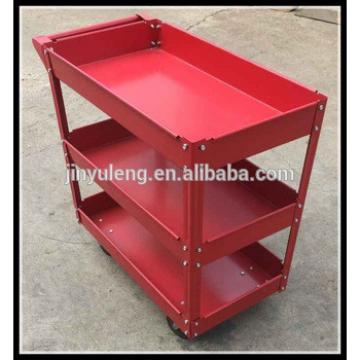 three layers metal platform service cart for fast food restaurant, hotel, restaurant, repair, 4s,train