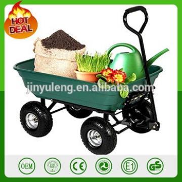 75L large capacity tip lorry tilting tool cart garden mini dump tool cart folding wagon wheelbarrow
