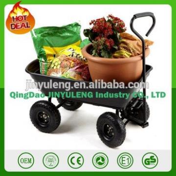 600 lbs Garden mini hand Dump cart handling tool cart dump trolley wheelbarrow platfrom wagon