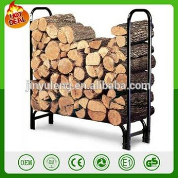 4ft 8 ft metal Firewood Log Rack Fire Wood Storage Holder Steel Indoor Outdoor Fireplace