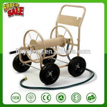 portable Water pipe cart ,metal four wheel Garden Hose Reel Cart ,Garden sprinkler cart