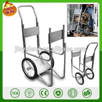 big wheel log rack cart wood hand trolley hand truck rack cart firewood trolley