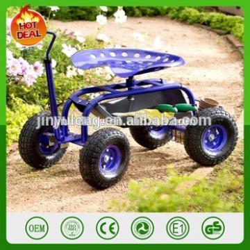 Seat Garden Work Tool Rolling Cart Tray Heavy Duty Planting Gardening Utility
