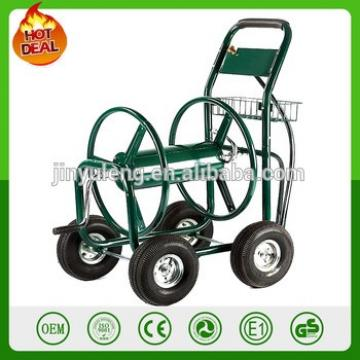 300FT capacity metal 4 wheel Outdoor Green courtyard humb Professional Garden Hose water pipe Reel Cart