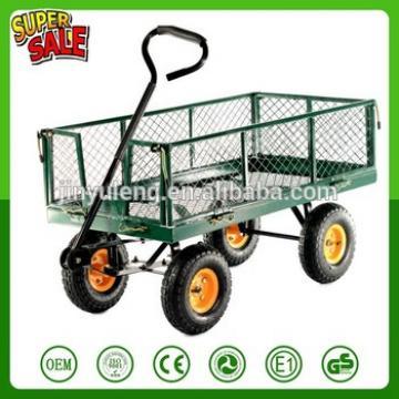 load 400LBS industrial Garden Tool Cart , grid tool cart