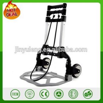 two wheels Steel & Aluminum adjustable telescopic Folding Hand Truck,scalable folid hand trolley wagon