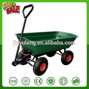 garden tool cart 75L large capacity garden hand trolley mini dump cart heavy-duty wheelbarrow garden cart dump truck