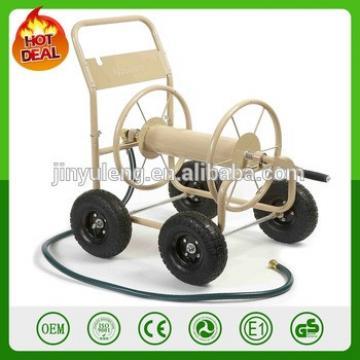 Water Hose Reel Cart Wheels Heavy Duty Metal Industrial Steel Garden Lawn Yard