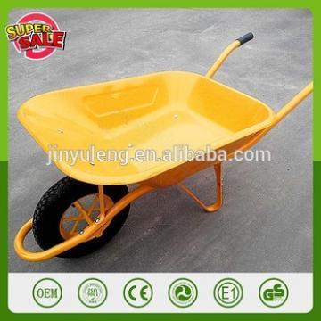 Qingdao manufacturer french commercial wheelbarrow WB6400 large capacity concrete wheelbarrow