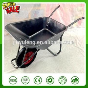 WB6414t power heavy load capacity solid wheel metal wheelbarrow for Europe Southeast Asia Australia market Gardening concrete