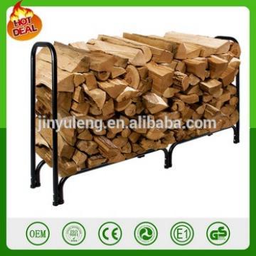 8' ft ourdoors Firewood Wood Log Rack Lumber Storage Holder Backyard andirons 4'ft log rack