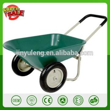2 wheels steel metal power capacity wheelbarrow for Building, farm garden wheel barrow hand trolley tool cart dolly hurl barrow